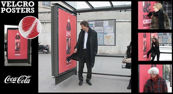 Coca Cola Velcro bus stand