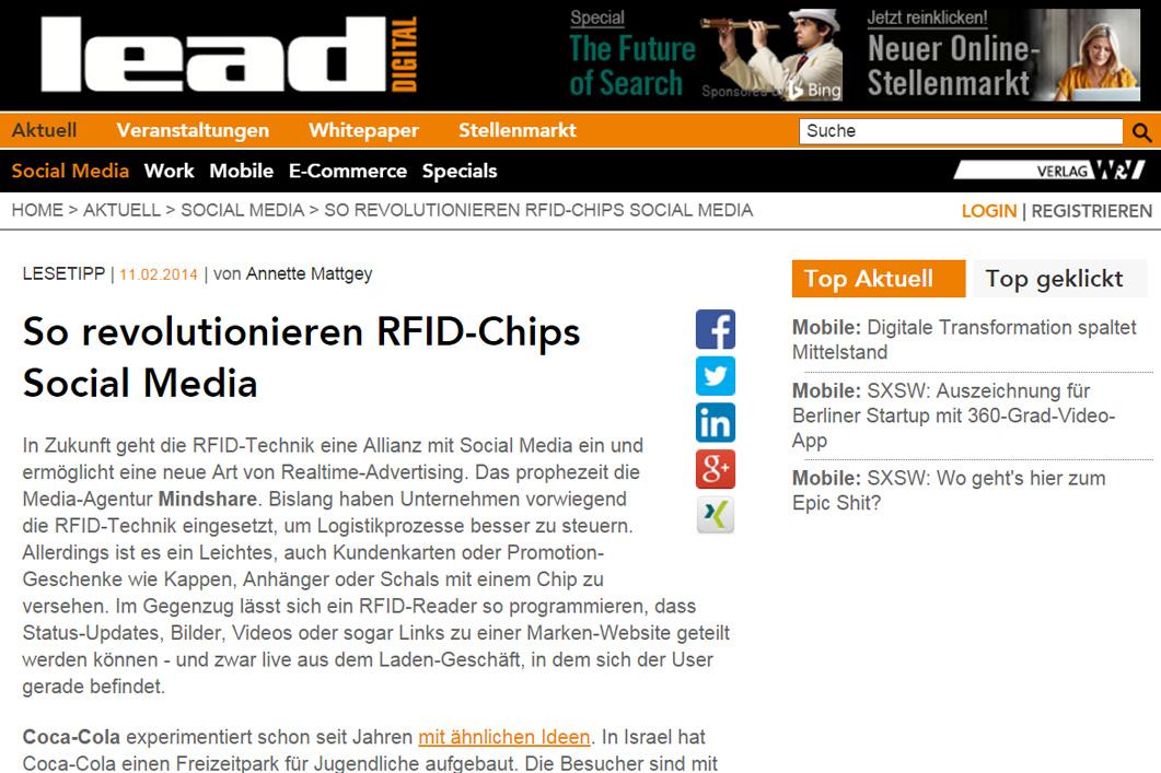 RFID Social Sharing
